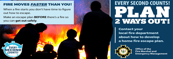 Fire Prevention Week 2017 – Have Two Ways Out!